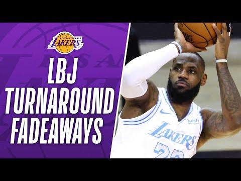 LeBron's Turnaround Fadeaway's As A Laker! 👀