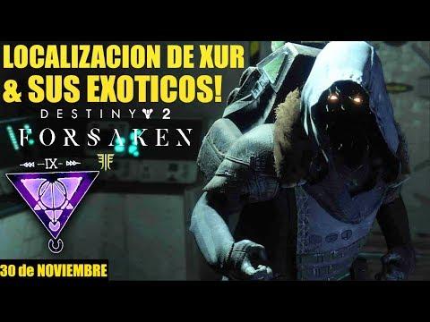 Destiny 2 - Localización de Xur! Exóticos! Inventario! Ventajas y Recomendaciones! | 30 de Noviembre thumbnail