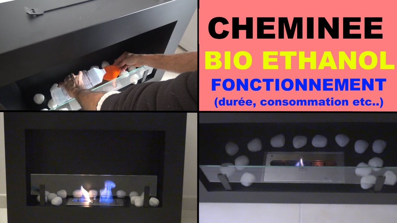 cheminee bio ethanol liquide fonctionnement consommation dur e etc youtube. Black Bedroom Furniture Sets. Home Design Ideas