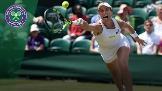 Johanna Konta vs Dominika Cibulkova 2R Highlights | Wimbledon 2018