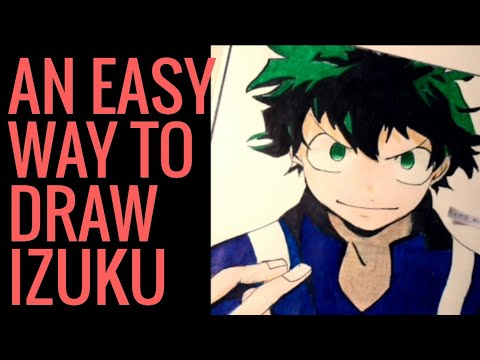 Super Easy Way To Draw IZUKU MIDORIYA.. SLOW TUTORIAL.. from boku no hero academia