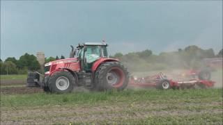 Будни тракториста 2 сезон 2016, Massey Ferguson 7626 в работе, тест и обзор трактора.