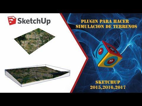 como generar terreno en  sketchup  en segundos con el  (plugin  add terrain skirt )