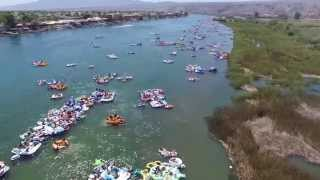 AERIAL FOOTAGE OF BULLHEAD CITY RIVER REGATTA 2015 PART 1