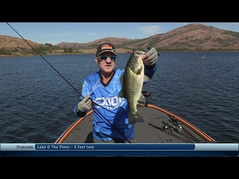 Southwest Outdoors Report #31 Elmer Thomas Lake, Oklahoma Bass Fishing - 2013