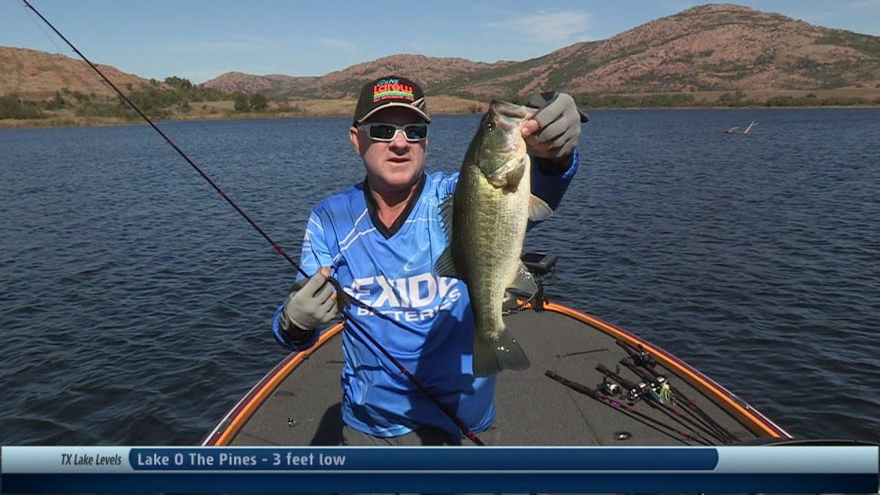 Southwest outdoors report 31 elmer thomas lake oklahoma for Lake waco fishing report