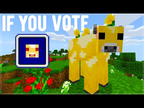 Minecraft LIVE If You VOTE Moobloom Mob We Will Get...