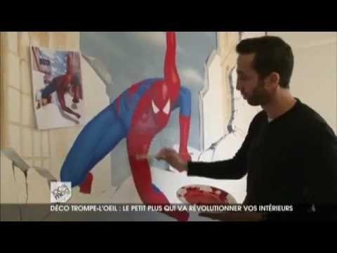 Decoration chambre enfant spiderman youtube for Decoration chambre spiderman