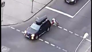 Велосипедист наехал на авто. 17.07.2016.