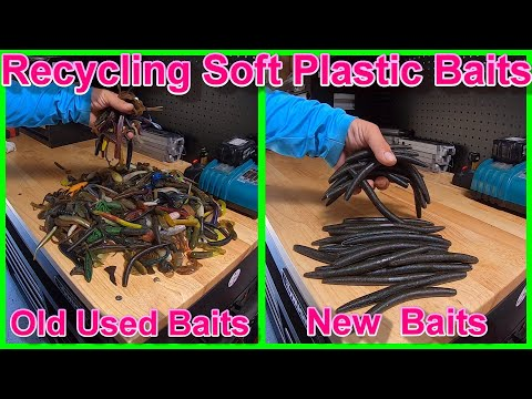 Making Soft Plastic Baits - Recycling Soft Plastic Lures