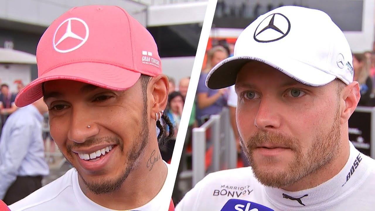 Lewis Hamilton Wins Sixth British Grand Prix Hamilton Leclerc Bottas Post Race Interviews Youtube