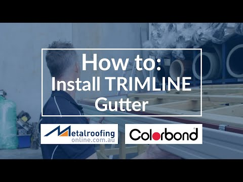 How to: Install COLORBOND® Trimline Gutter | Metal Roofing Online