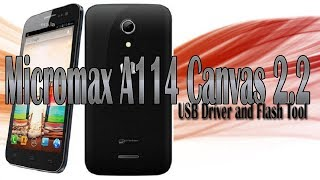 Micromax A114 Canvas 2.2 | Download USB Driver & Flash Tool