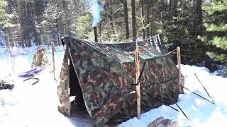 Hot tent winter camping trip part 1
