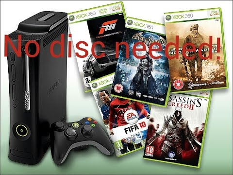 how to play downloaded xbox 360 games without disc