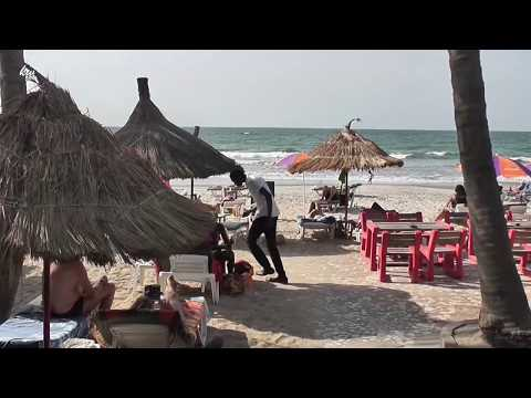 From Palma Rima Hotel to the Beach.Gambia