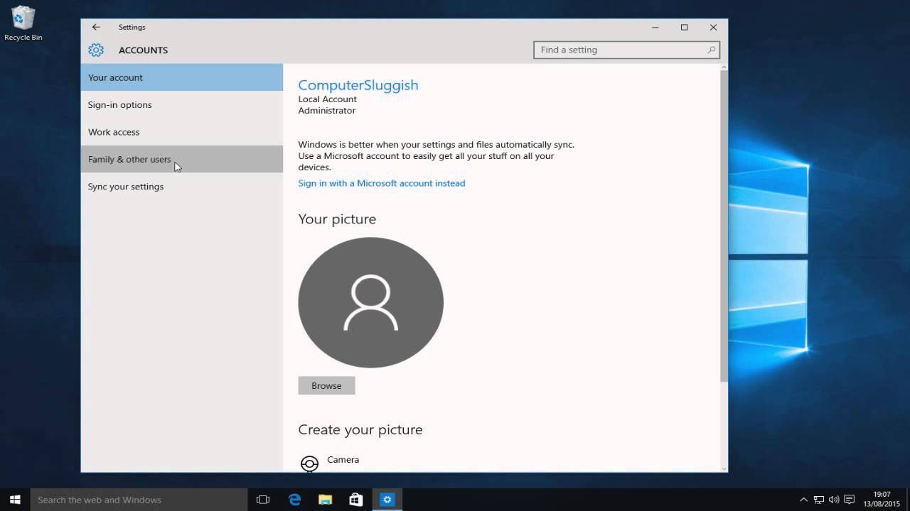 how to change a local user account to admin in windows 10 tutorial youtube