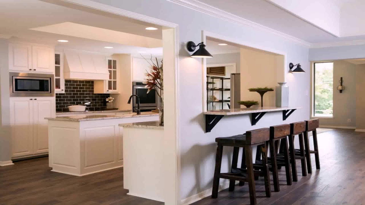 Kitchen Living Room >> Kitchen Living Room Pass Through - YouTube