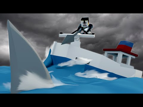 Jaws Movie 2 - Saving a Sinking Ship from a Shark Attack! (Minecraft Roleplay) #2