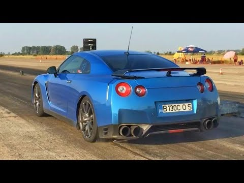 Brutal Launch Nissa GT-R 900 HP+ - Drag Race Ianca 06.08.2017