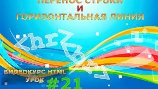 Перенос строки и горизонтальная линия в HTML. HTML-теги br и hr. #21