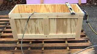 Wooden Cooler.