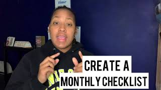 Create A Monthly Checklist