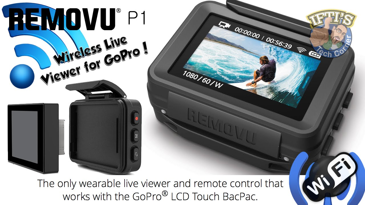 removu p1 gopro lcd touch bacpac wireless remote live view rh youtube com LCD- screen LCD- screen