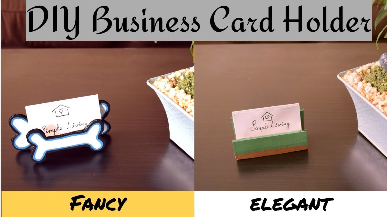 Diy Business Card Holder Stand For