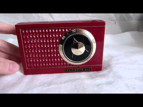 1958 Olympic model 666 transistor radio made in Japan by Crown