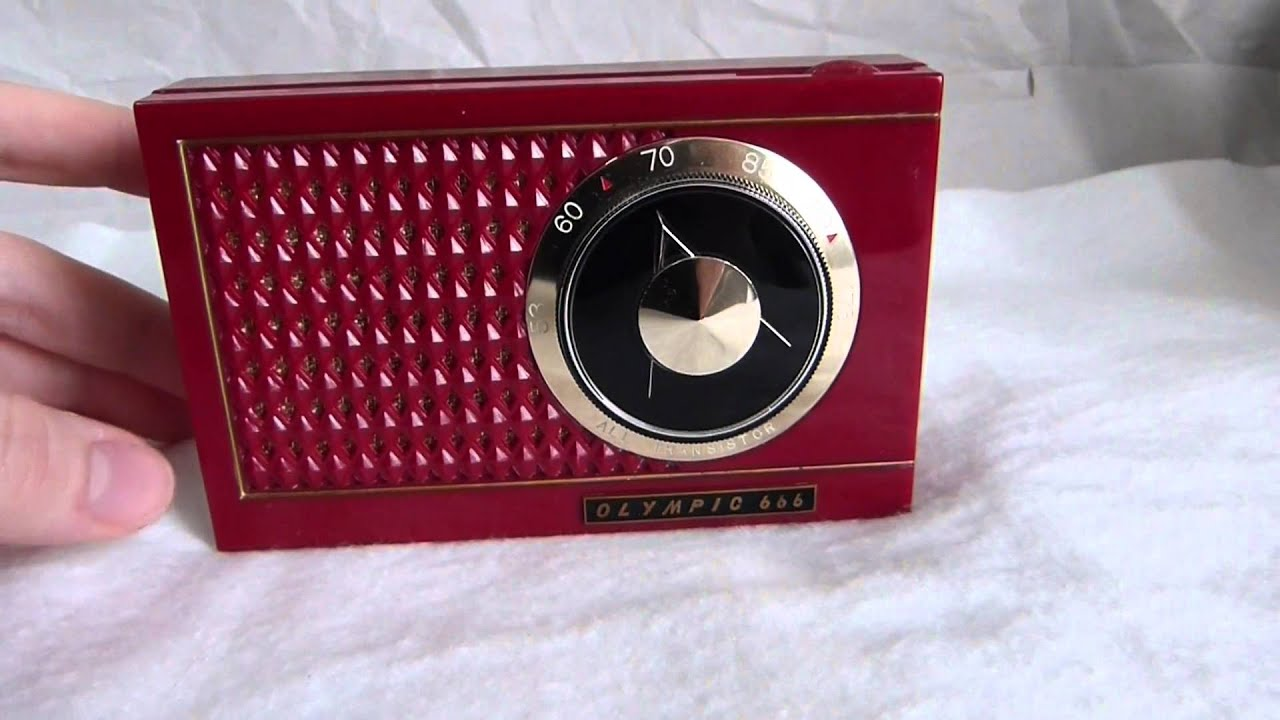 1958 Olympic Model 666 Transistor Radio Made In Japan By