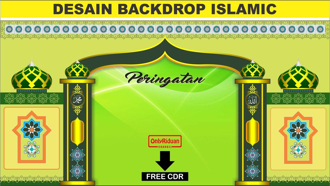 Template Backdrop Islamic Full Vector Format CorelDraw (Free CDR) - YouTube