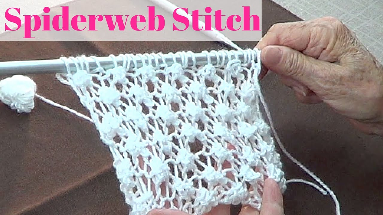 Spiderweb Stitch - YouTube