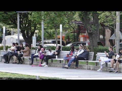 Ереван, 03.05.20, Su, 39-ый день,  Прогулка по центру (Каскад), Video-1.