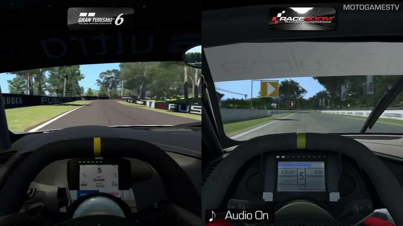 Gran Turismo Vs RaceRoom Beta Audi R LMS Ultra At Bathurst - Audi r8 race car 01 gt6