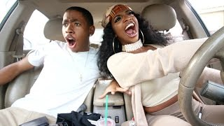 CRAZY DRIVER WITH ROAD RAGE!! DRIVING WITH DE'ARRA