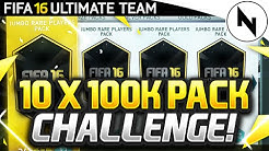 10 x 100K PACK CHALLENGE! - FIFA 16 Ultimate Team / FutGalaxy Pack Opening