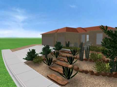 Front Yard Landscape Design Las Vegas