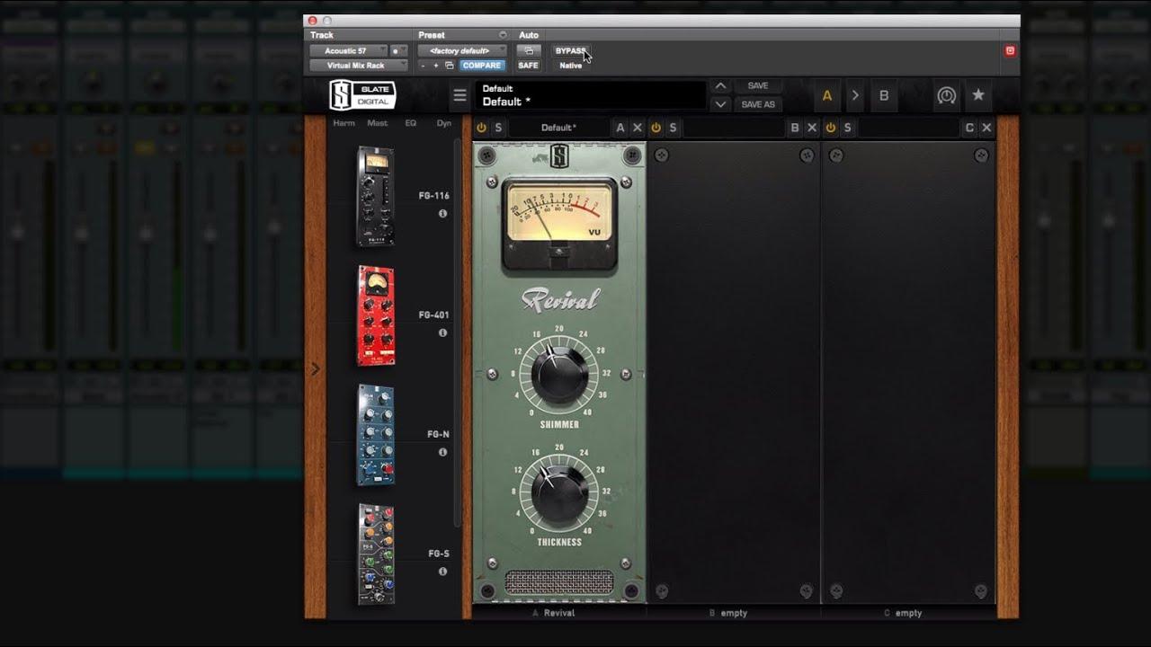 Slate Digital Revival Virtual Mix Rack Plugin Review [Video