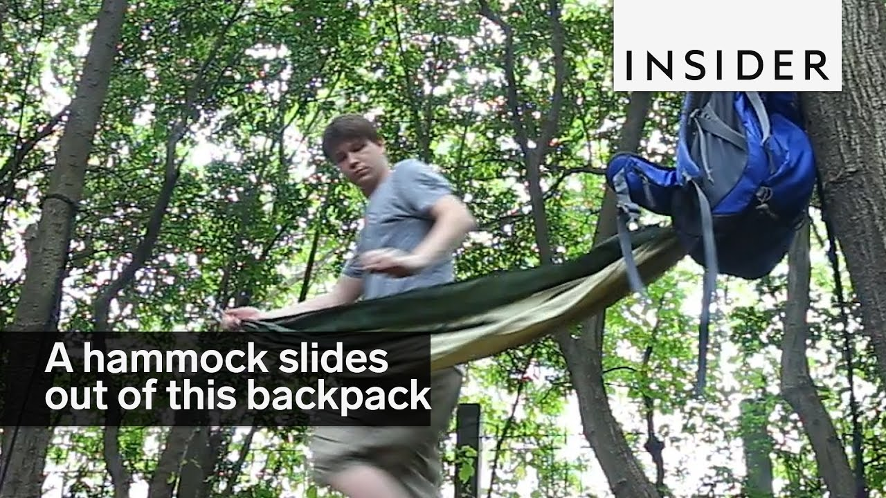 - A Hammock Slides Right Out Of This Backpack - YouTube