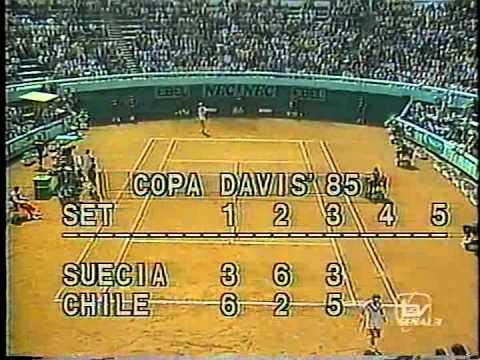 1985 Copa Davis Chile vs Suecia