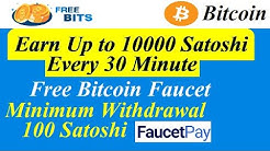 Earn Up to 10000 Satoshi Every 30 Minute | Free Bitcoin Faucet | Minmum Withdrawal 100 Satoshi |