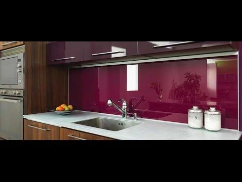 Установка стеклянного фартука на кухне - YouTube