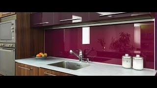 видео Стеклянные фартуки для кухни: виды, особенности, фото
