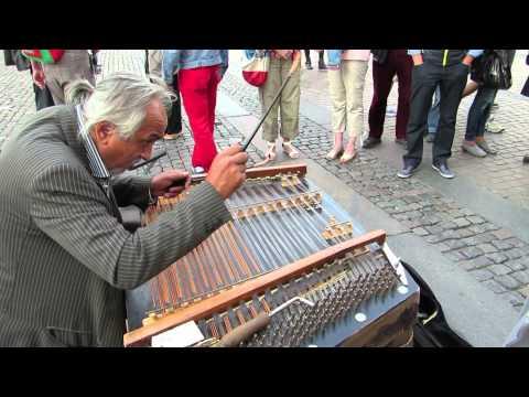 Hungarian gypsy Street Musicians(Cimbalom) - Copenhagen, August 2014 (Part 2)