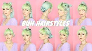 10 BUN HAIRSTYLES FOR SHORT HAIR