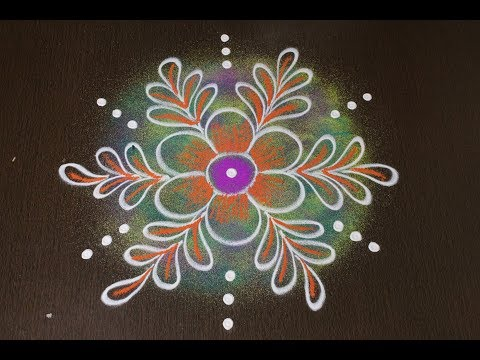 rangoli designs for pongal - beautiful flower kolam designs with colors - sankranthi muggulu designs