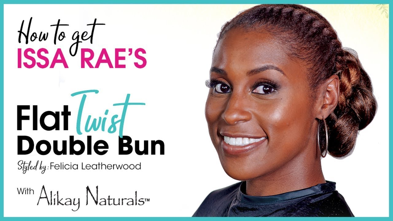 Double Bun Natural Hairstyle Tutorial ...
