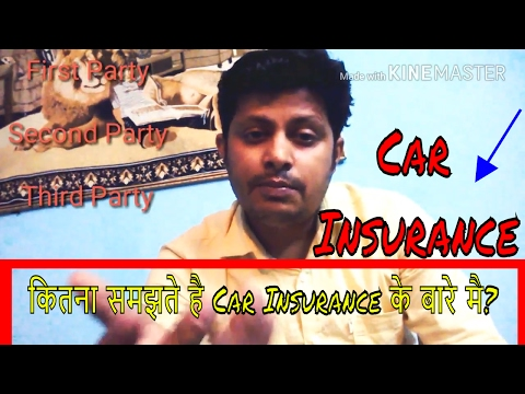 Car insurance| auto insurance |First party|Third party|comprehensive