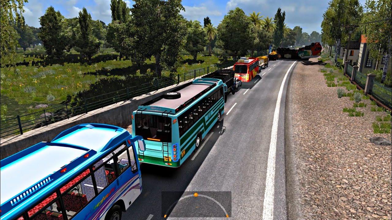 Accident Truck vs Truck | Euro truck simulator 2 | indian bus mod |